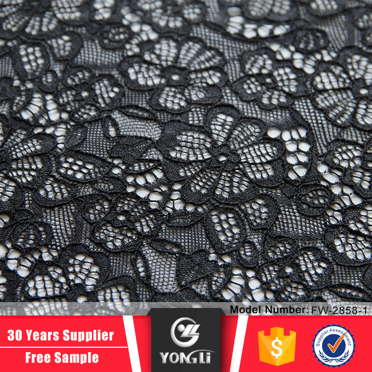 Alibaba supplier sale discount black tulle lace fabrics uk