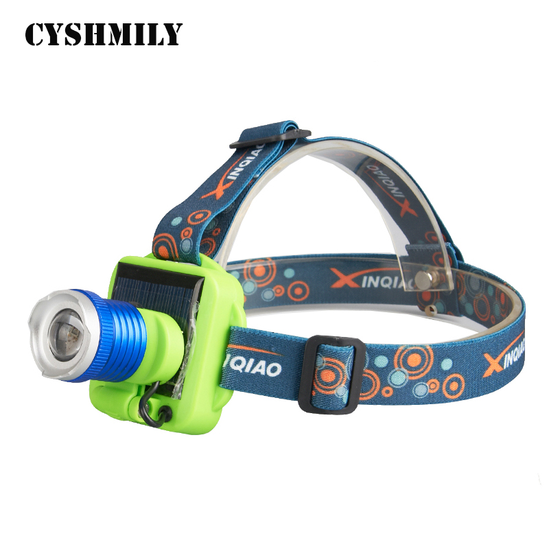 CYSHMILY Glare Rechargeable Long-range Hunting Night Light Solar Charging Led Rechargeable Head Lamp