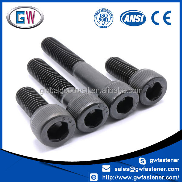 Class 12.9 Black Hex Socket Allen Carbon Steel Bolt and Nut