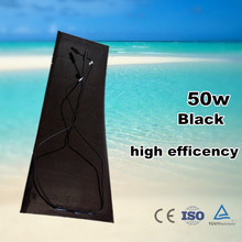 Black frame and black back sheet 50watt mono solar panel