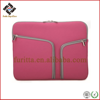New Fashional 13 inch Waterproof Shockproof Zipper Pocket Neoprene Laptop Sleeve Case