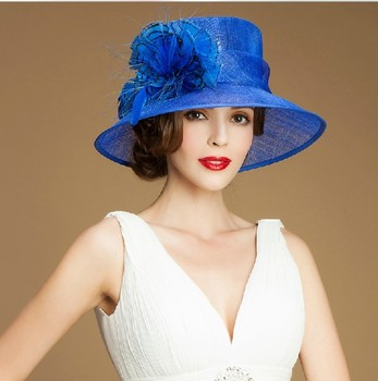 hotsale elegant Dress Hat fashion sinamay women church hats for sale