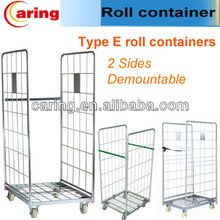 warehouse transport 2 sides roll trolley