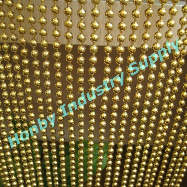 6mm gold color metal bead string curtain