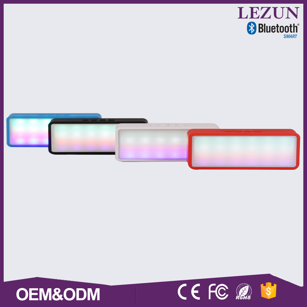 Export product wholesale colorful led cuboid style sd slot speaker bluetooth