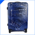 jeans printed ABS PC Luggage with fashion design