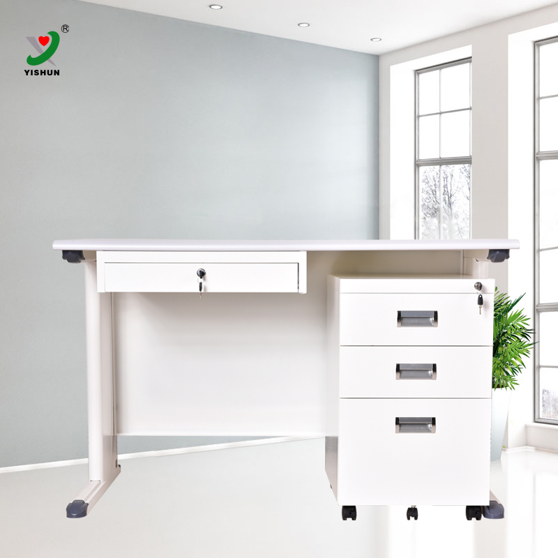 Best selling steel school furniture teacher's office work table with metal movable file cabinet