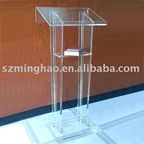 clear acrylic lecture table/ acrylic podium