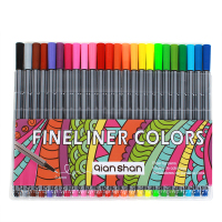 0.4mm 24pcs Qianshan Colorful Fineliner Pens Graphic Marker Pen