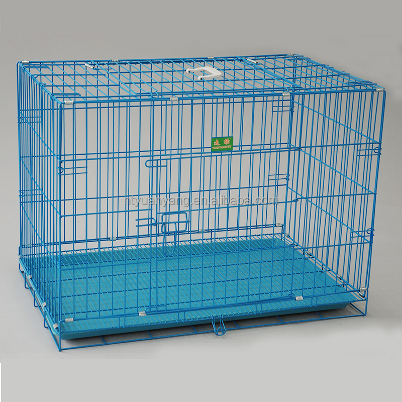 collapsible folding wire pet crate with grill for sale