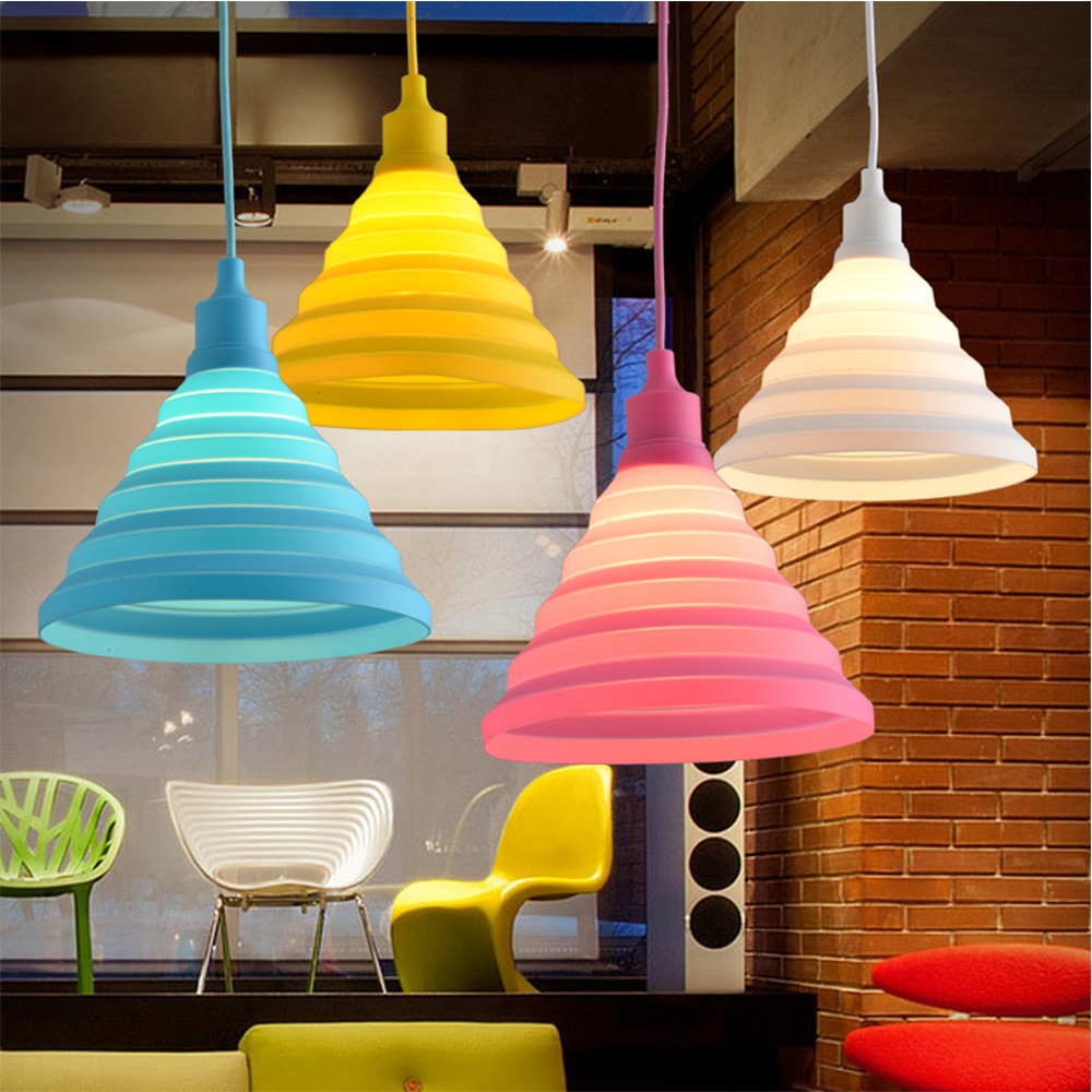 Best selling silicone e27 lamp holder fancy pendant light with braided wire
