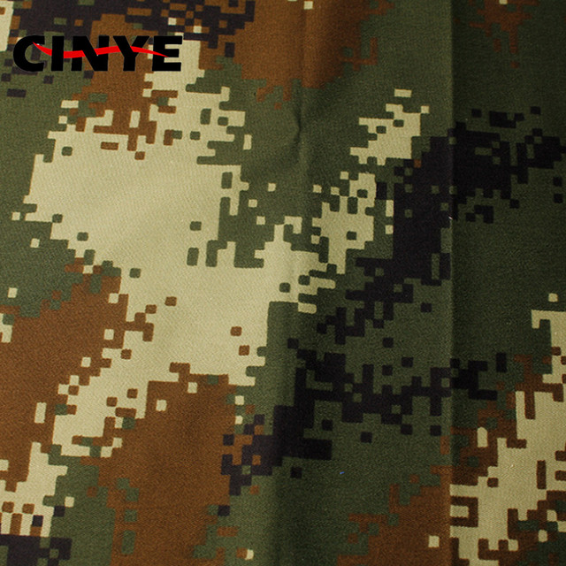 waterproof canvas fabric with camouflage printed