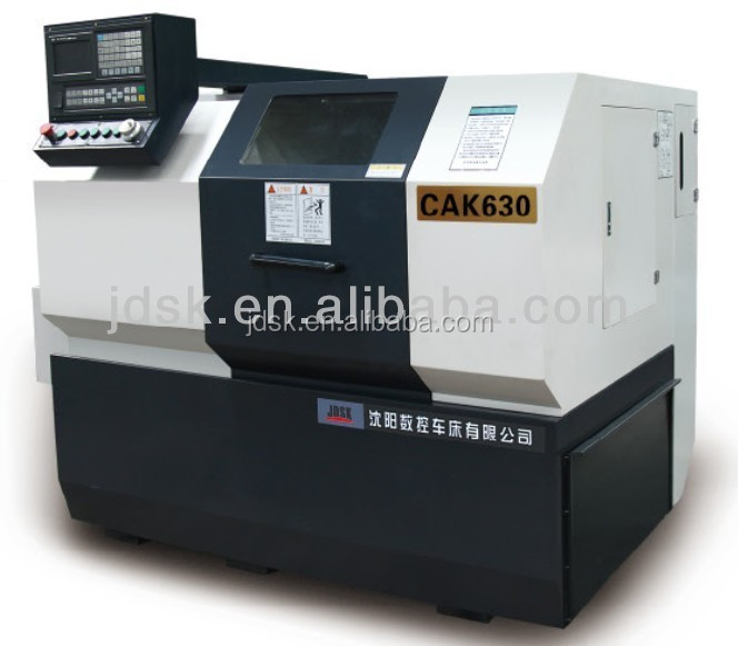 CNC lathe equipment for power tools turning and grinding with pneumatic collet and manual chuck CAK630
