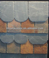 different color roofing slate tile of veneer stacked