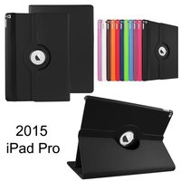 360 Rotary Flip Litchi Leather Stand Cover Case For iPad Pro