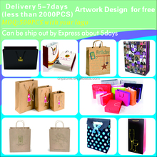 New Luxury kraft paper bag/custom paper shopping bag/paper gift bag