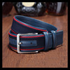 Leisure style colorful cotton rope webbing canvas belt for man