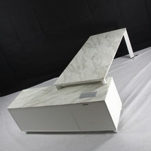 Modern Type Marble Office Manager Desk On Metal Frame