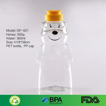 7OZ 12OZ CLEAR PLASTIC HONEY BEAR BOTTLES, PLASTIC SQUEEZE SAUCE BOTTLE