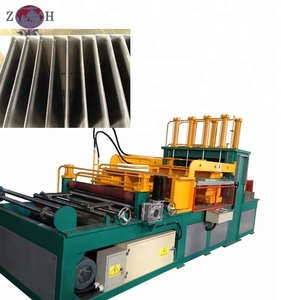 High efficiency corrugated tank folding machine for transformer fin