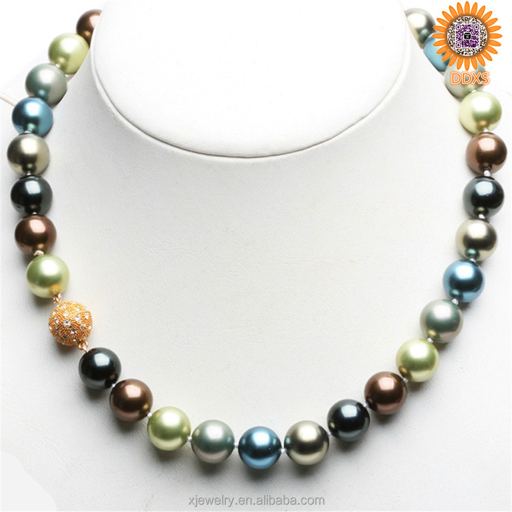 wholesale fashion luxury south sea shell pearl beaded