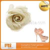 Beautiful Handmade Fabric Flower Shoe Accessory