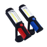 COB LED Magnetic Working Stand Hanging Swivel Hook Rotation Light Flashlight Lamp Torch