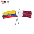 Custom hanging national country Colombian blue yellow red flag promotional flag