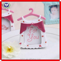 Baby Shower Lovely Dress Mini Photo Frame Gifts Resin Picture Frame