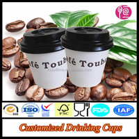 Single Wall Hot Drinking Custom Printed Espresso Cup With Lid