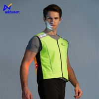 Waterproof usb rechargeable washable led safety reflective vest yellow