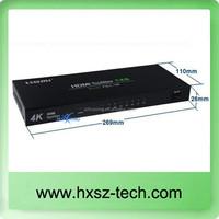 Full HD HDMI Splitter 1x8 8 Port Hub Repeater Splitter v1.3 3D 1080p 1 In 8 Out hdmi splitter