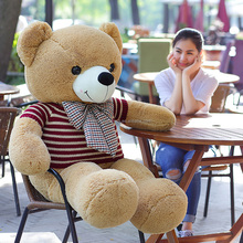 120CM Brown teddy bear plush <strong>toy</strong> with clothes