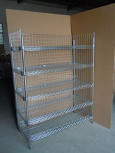 Industrial and Clean Room Wire Shelving Security Carts