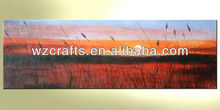 Colorful Sunrise Natural Scenery Oil Painting