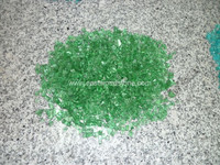 Green color firepit glass, crushed glass