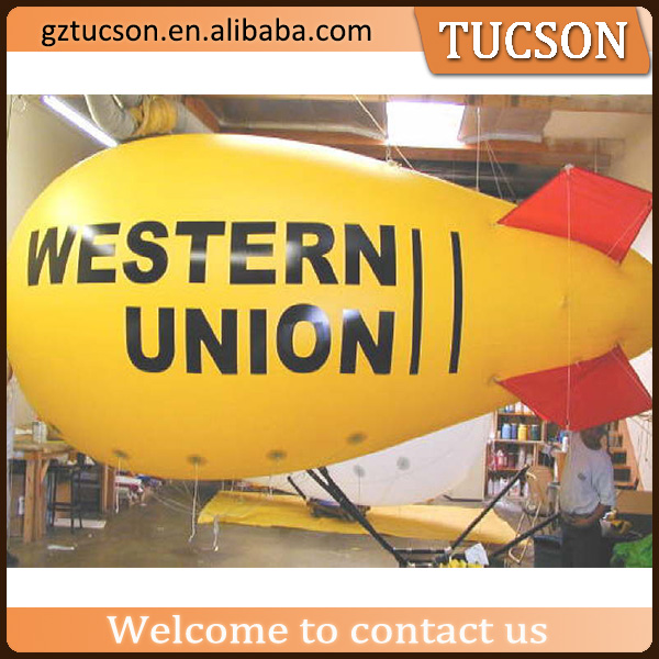 Helium balloon with banner advertising/ helium blimp manufacturer