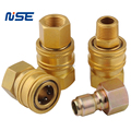 brass Valveless hydraulic quick coupling no valve straight-thru quick coupler