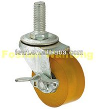 Light Duty Biaxial Polyurethane(PU) Chair Leg screw in furniture casters