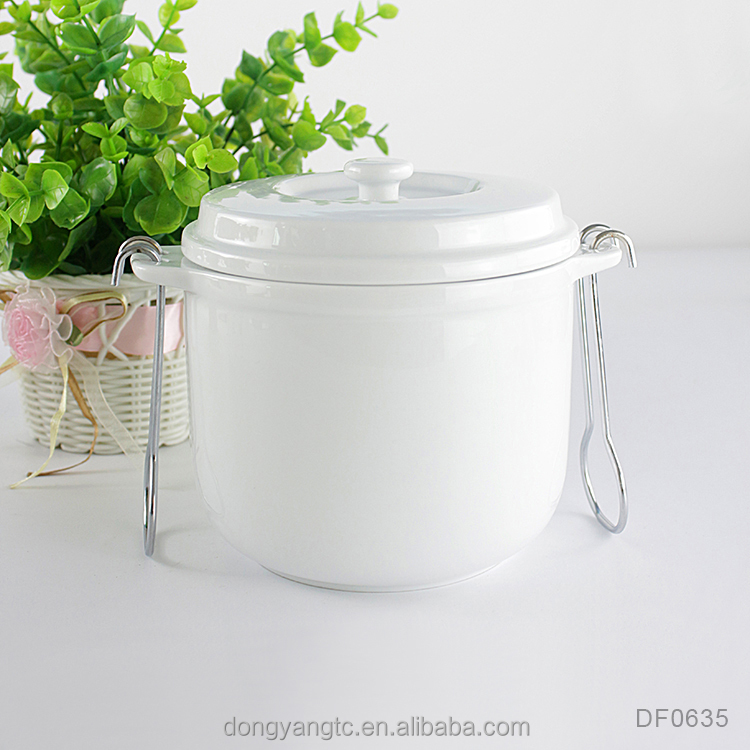 Custom wholesale soup tureen, chinese ceramic cooking pots with lid
