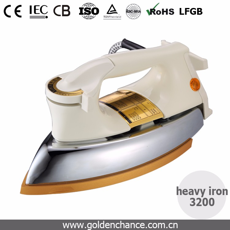 heavy dry iron 1000W Fullcast non-stick Teflon coating Soleplate iron 3530