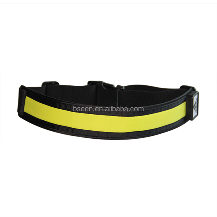 USB charge sports elastic exercise belt nylon fabric belt