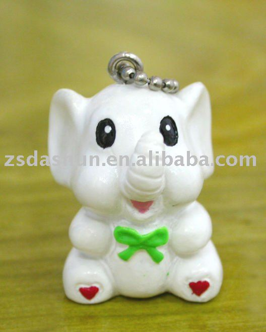DS-003S cute animal shaped keychain exquisite promotional gifts/Polyresin Crafts/key chain