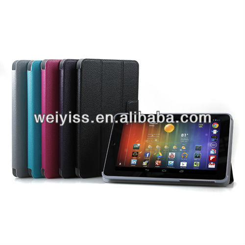 Black PU Leather Slim Magnetic Smart Cover Case Stand for google nexus 7 Tablet