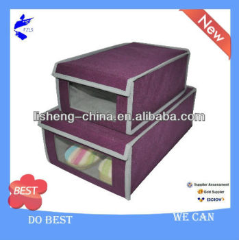 Non-woven Shoes Box With PVC Window-Large