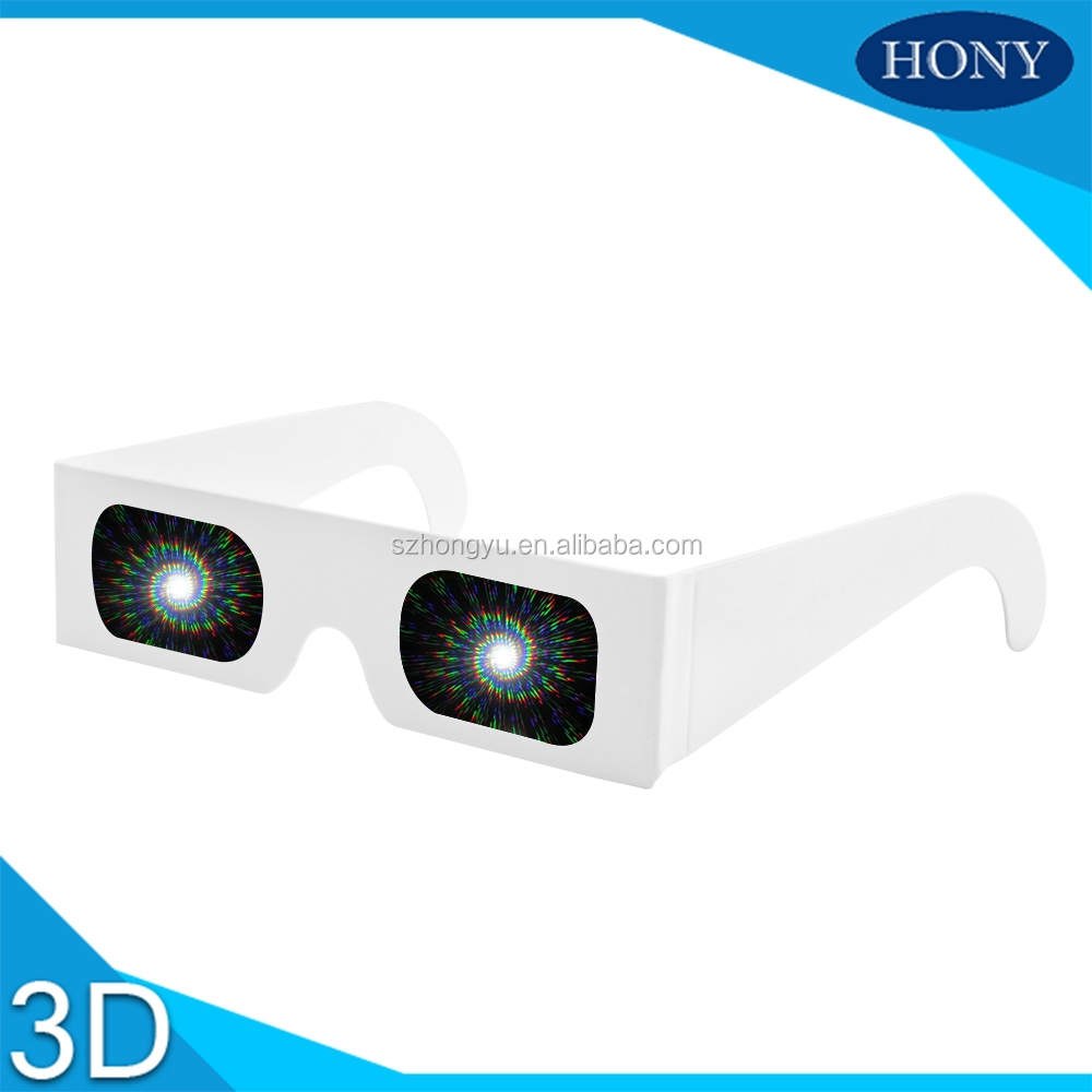 Paper Spiral Diffraction Glasses With 13500 Lines Spiral Diffraction Lens