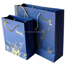 2016 luxury handmade china online selling folded shopping paper bag