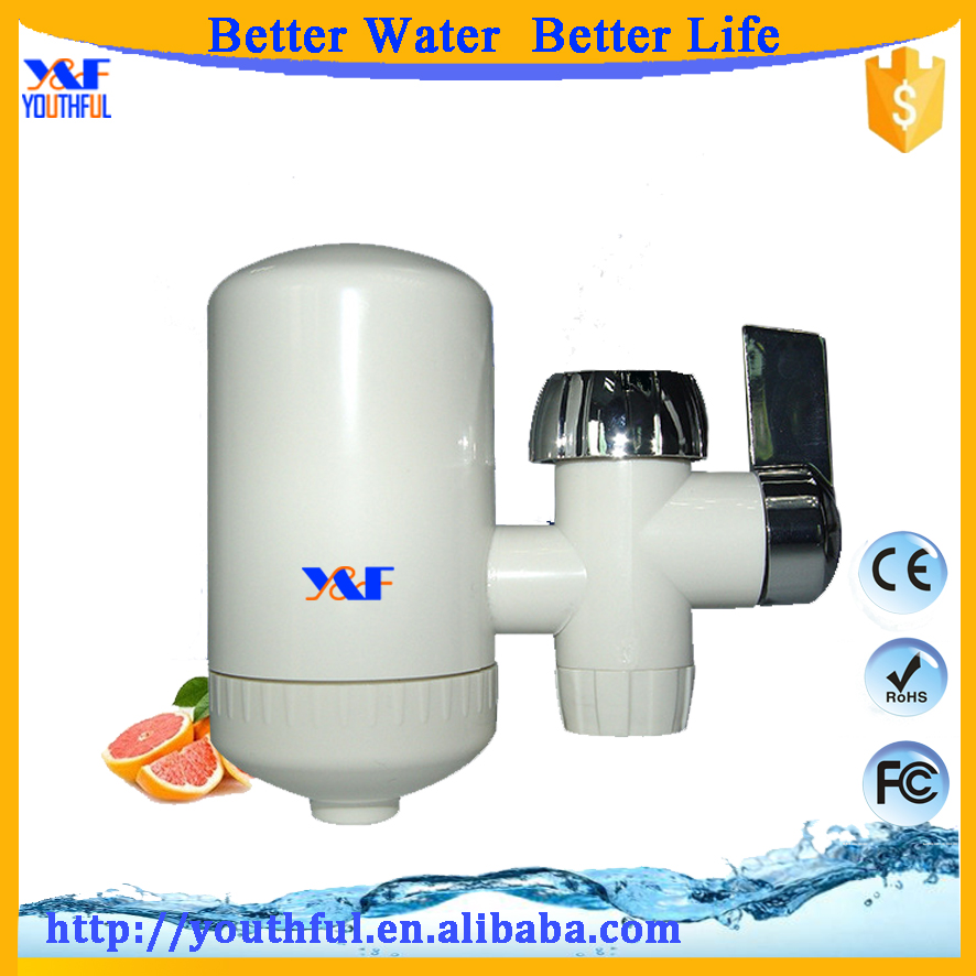Small kitchen design ceramics composite filter faucet tap water purifier