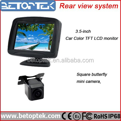 Hot Sale 3.5 Inch Digital TFT LCD Monitor Rear View System Rearview Camera