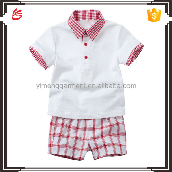 Fashion child clothes two set with t-shirt and pants for boys